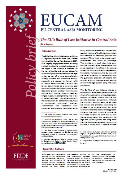 into eurasia monitoring the eu s central asia strategy executive